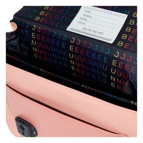 送料無料 Jeune Premier リュック Cherry Pompon Midi Satchel Pink チェリー柄 ピンク ゴールド