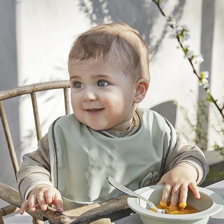 【送料無料】ELODIE Baby Bib - Mineral Green