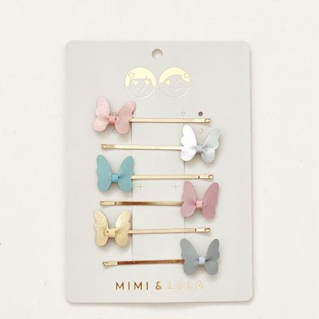 【送料無料】MIMI&LULA バタフライ ヘアピン 6本セット