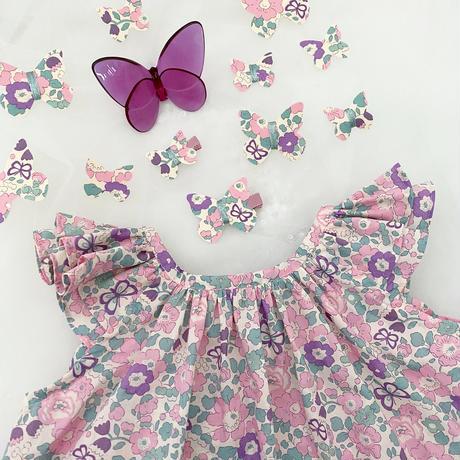 butterfly clip mini liberty betsy  butterfly lilac バタフライクリップミニ ベッツィバタフライ ライラック 単品