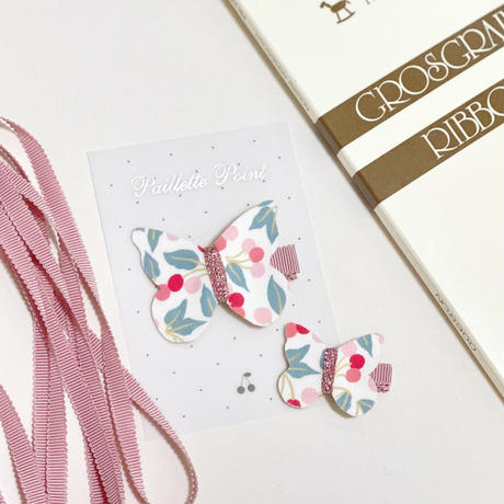butterfly clip mini liberty cherry drop チェリードロップ Sサイズ 単品