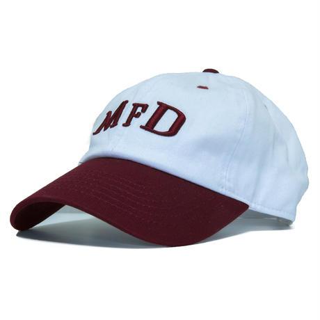 【Burgundy】short logo snap back cap