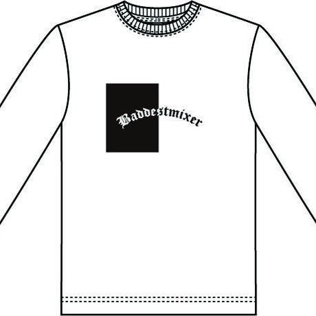 【WHT】baddestmixer long sleeve T-shirt