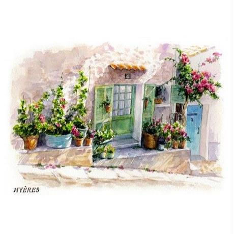 南仏の白壁の家