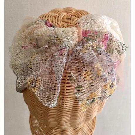 Flower tulle /White