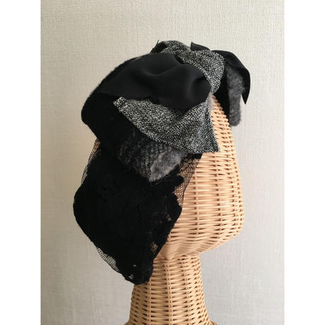 wool ribbon/Black