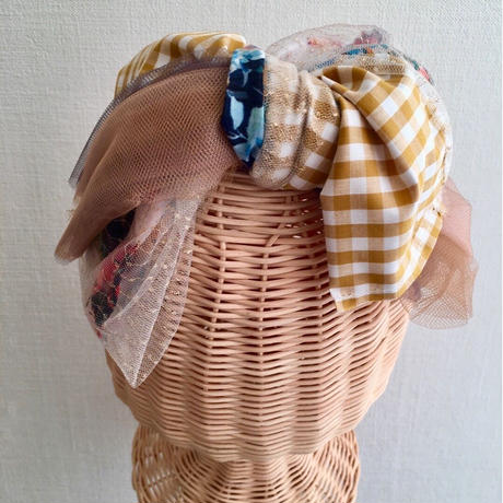 Plaid ribbon/Beige