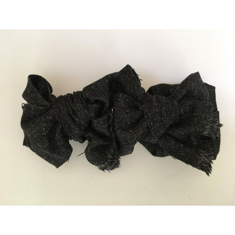 tweed ribbon/Black