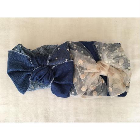Denim ribbon/Navy