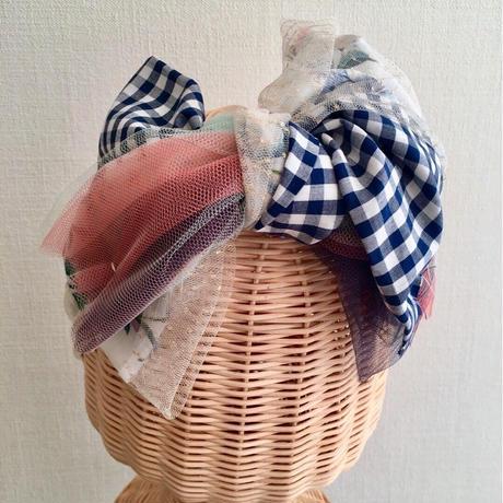 Plaid ribbon/Navy