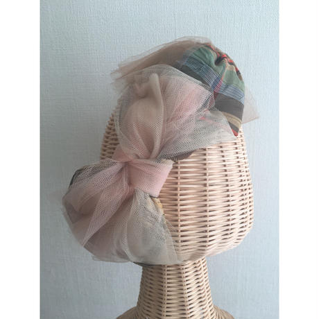 Plaid JQ Ribbon/Beige