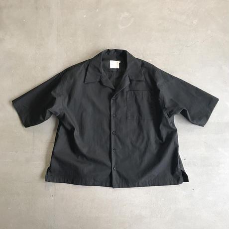 SWOON / オープンネックシャツsw13-504-025 Black S.M.L.XL