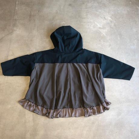 nunuforme / フリルミックスパーカーnf14-560-104 Green 95.105.115.125.135.145