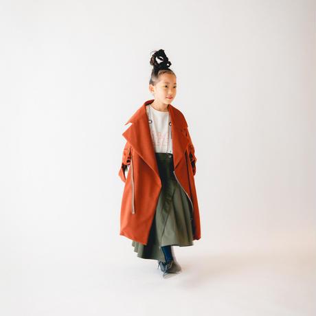 nunuforme / タックサロペットスカート nf14-712-103 Khaki 155