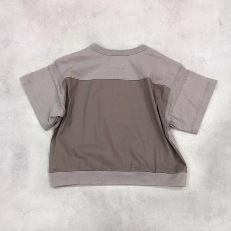 6°vocale/ ルースポーラーTシャツ KN-CSTYP-21S1 ASH GRAY 90.100.110.120