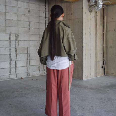 SWOON / ナイロンショートジャケット sw15-100-015 Khaki M.L.XL