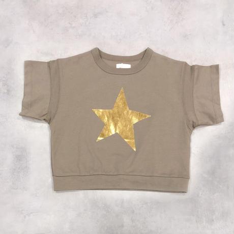 6°vocale/ ルースポーラーTシャツ KN-STYP-21S2  KHAKI 130.140.150.160
