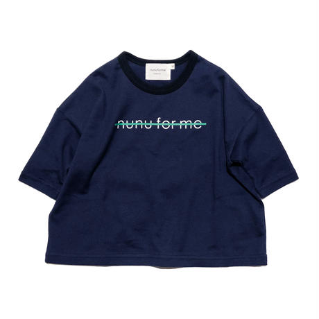 "nunuforme / Exclusive Item ""NOT nunu for me T-shirt"" mb016 NAVY"