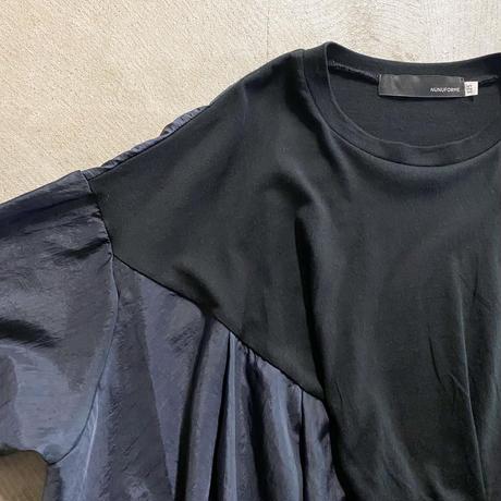 nunuforme / フロントドレープT nf15-813-511A Black  2(160/F)