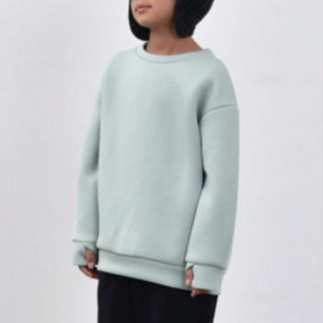 MOUN TEN. / double knit crewneck MT202028-a mint 95.110.125.140