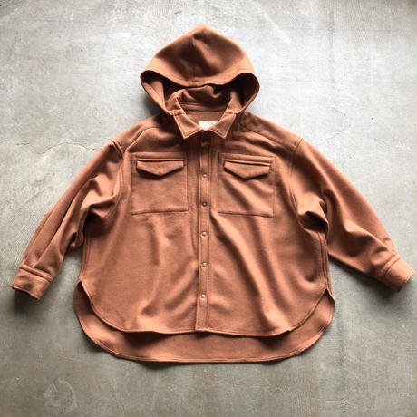 SWOON / ウールフーデッドシャツ sw14-507-116 Beige L(120-130)