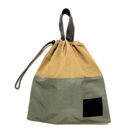 Bague  DRAWSTRING BAG / KHAKI