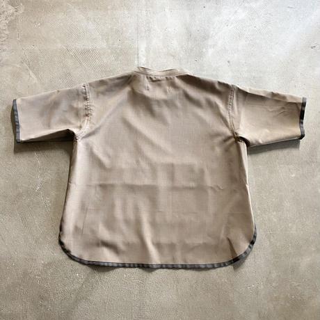 nunuforme / パイピングシャツ nf15-563-118 GrayBeige 105.115.125.135.145