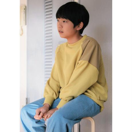 SWOON / バイカラースウェットシャツ sw14-514-503 Green L(120-130)
