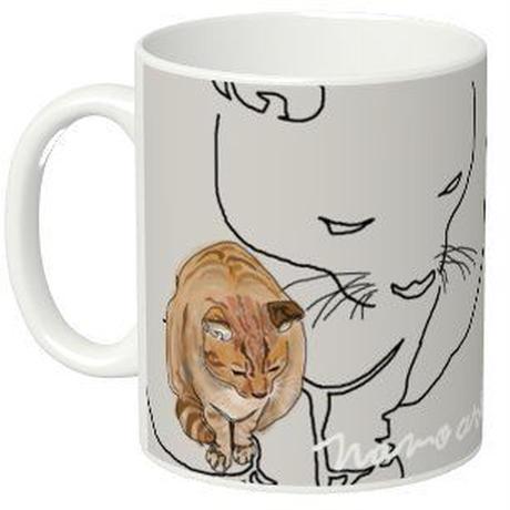mamoart - マグカップ ネコ 大小