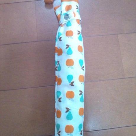 折りたたみ傘(新品)りんご&洋ナシ模様