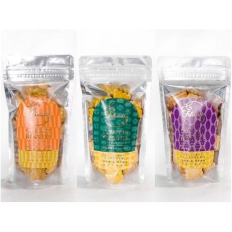 フェリシエッタビスケット 小麦のビスケット3種類 各1個(にんじん・かぼちゃ・さつまいも)