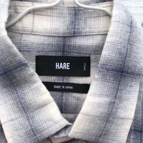 メンズ古着 HARE チェックシャツ ホワイト[010]