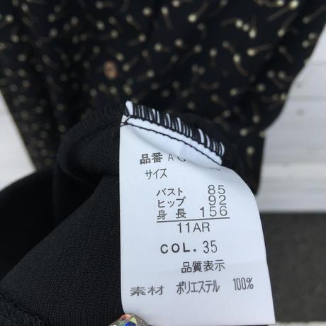レディース古着 レトロ 花柄ロングワンピース (2点セット)[057]