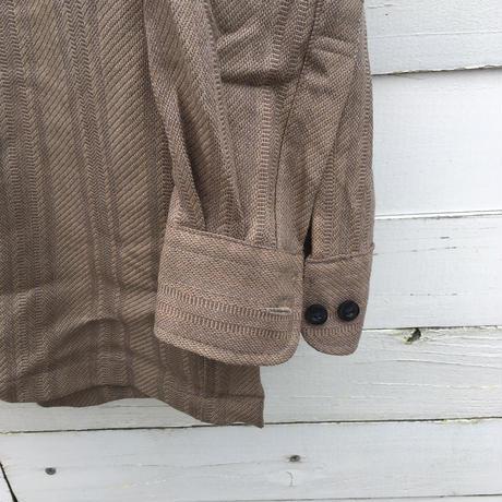 メンズ古着 ベージュシャツ[059]