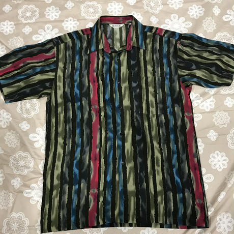 メンズ古着 レトロストライプシャツ [140]