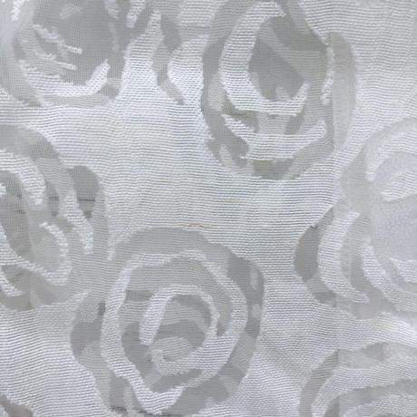 レディース古着 レトロ シアー花柄ブラウス[85]