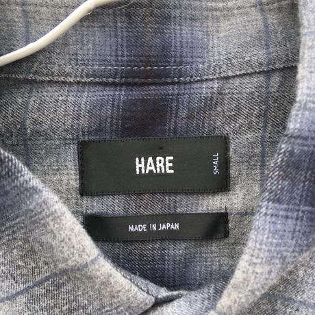 メンズ古着 HARE チェックシャツ グレー[011]