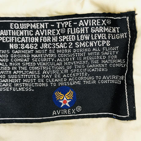 メンズ古着 AVIREX韓国製タイプA-2レザージャケット[120]