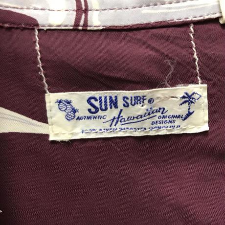 メンズ古着 SUN SURFレーヨン アロハシャツ  [131]