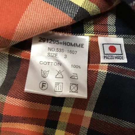 メンズ古着 291295=HOMMEチェックシャツ[015]
