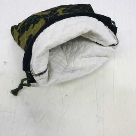 キルティング素材迷彩柄巾着袋  [281]