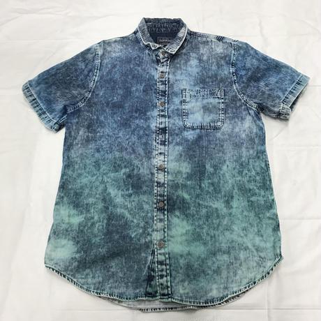 メンズ古着 TOPMAN 染め半袖シャツ[158]