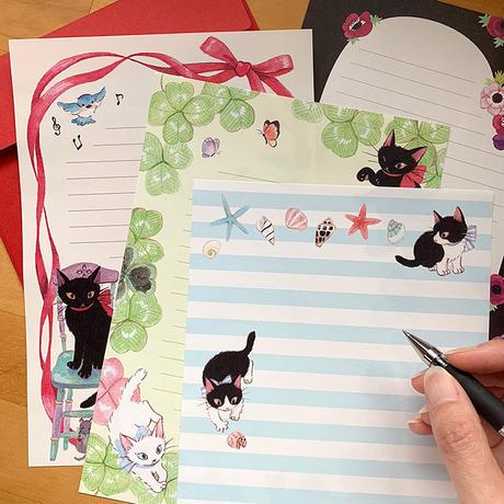 Ribbon Cat 便箋セット(2柄×10枚)