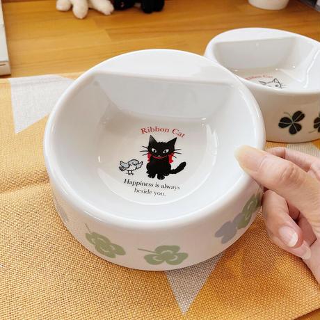猫ちゃん用フードボウル(お名前シール付き)