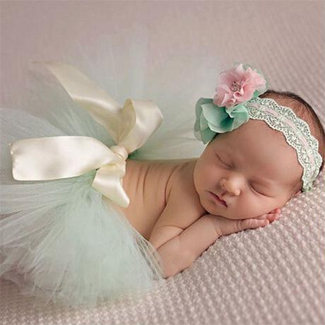 hello my baby girl Flower Headband + Tutu Skirt Costume Set