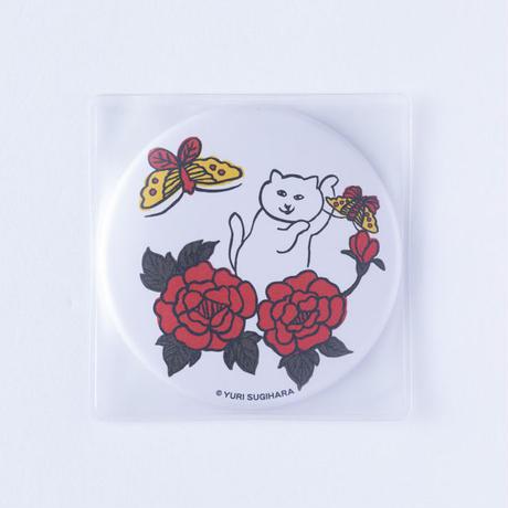 (NEW!) HANAFUDA CAT CAN MIRROR-Butterfly
