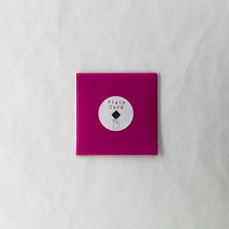 PLAIN CARD-RASPBERRY