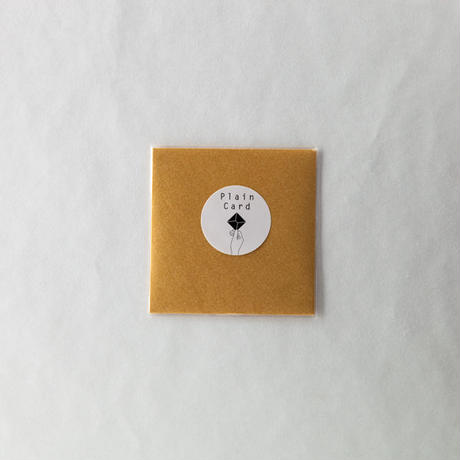 PLAIN CARD-GOLD
