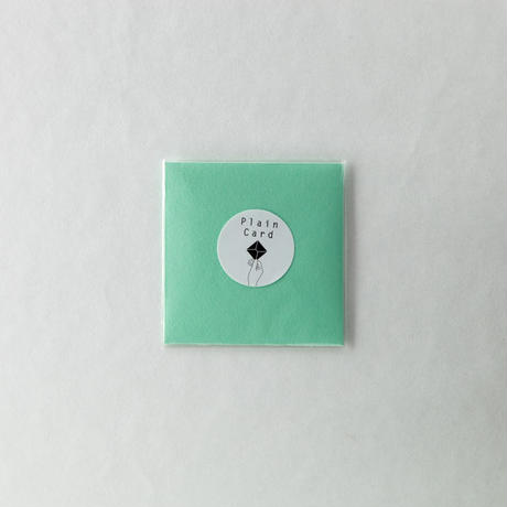 PLAIN CARD-GREEN TEA