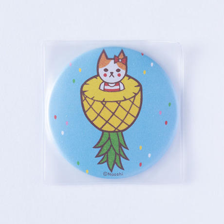 (NEW!) FRUIT CAT CAN MIRROR-PINEAPPLE